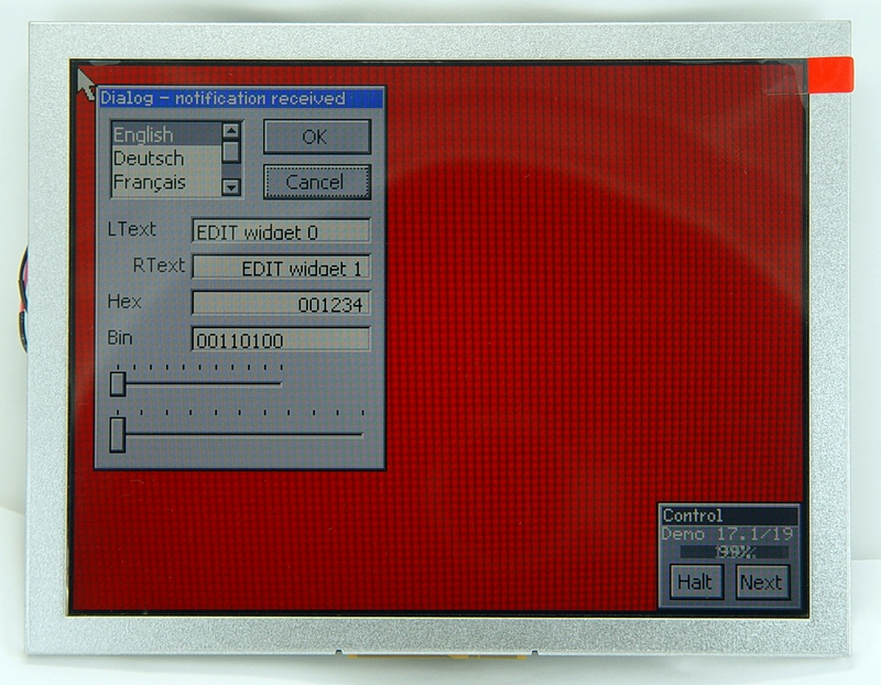 Industrial 8-inch screen